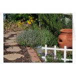 Jardín de hierbas tarjeta de felicitación