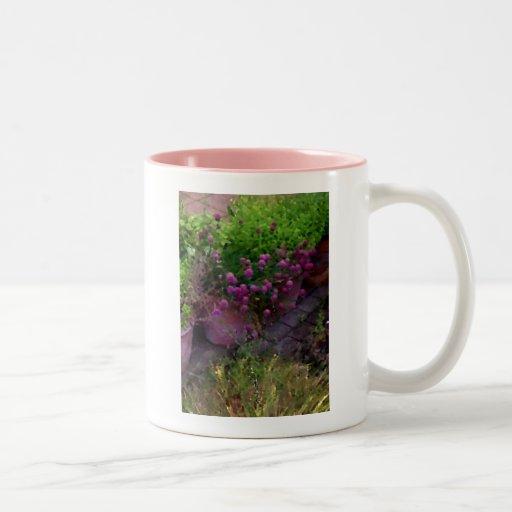 Jardín de hierbas taza de café