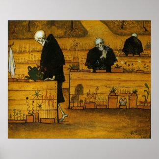 Jardín de Hugo Simberg de la muerte Impresiones