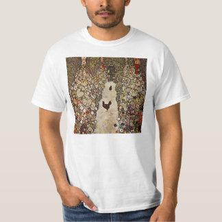 Jardín de Klimt con los gallos Playera