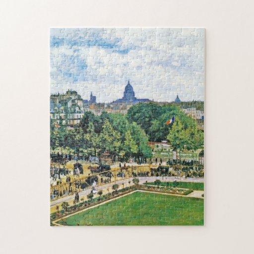 Jardín de la bella arte de princesa Claude Monet Rompecabeza Con Fotos