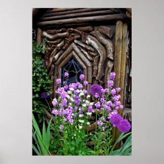 Jardín de la cabaña póster