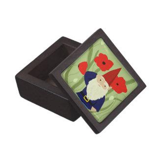Jardín de la caja de regalo del gnomo de la conmem cajas de joyas de calidad