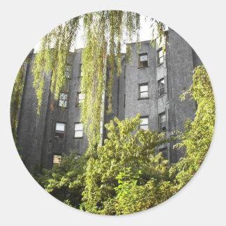 Jardín de la ciudad del alfabeto, East Village, Pegatina Redonda