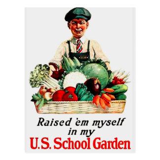 Jardín de la escuela tarjeta postal