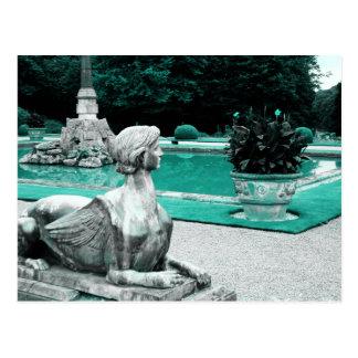 Jardín de la esfinge tarjeta postal