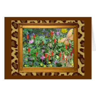 Jardín de la fantasía tarjeta de felicitación
