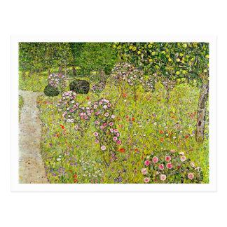 Jardín de la fruta con los rosas de Gustavo Klimt Tarjetas Postales