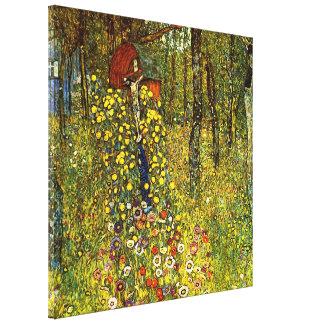 Jardín de la granja con crucifijo de Gustavo Klimt Lienzo Envuelto Para Galerias