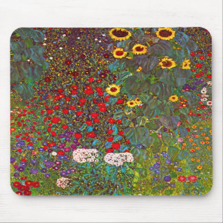 Jardín de la granja de Gustavo Klimt con el cojín  Alfombrilla De Raton