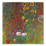 Jardín de la granja de Gustavo Klimt con la impres Cojinete