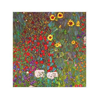 Jardín de la granja de Gustavo Klimt con la lona d Lona Estirada Galerías