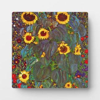 Jardín de la granja de Gustavo Klimt con la placa