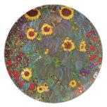 Jardín de la granja de Gustavo Klimt con la placa  Platos De Comidas