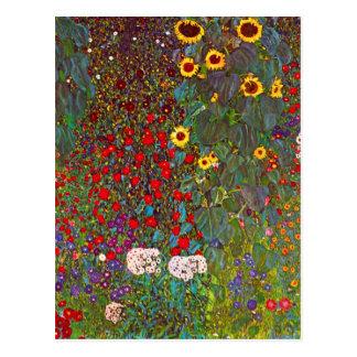 Jardín de la granja de Gustavo Klimt con la postal
