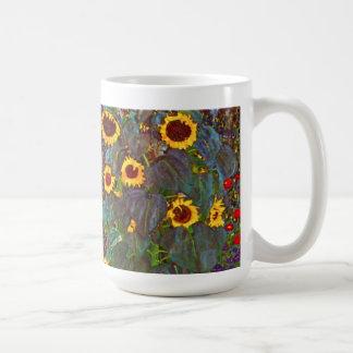 Jardín de la granja de Gustavo Klimt con la taza d