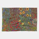 Jardín de la granja de Gustavo Klimt con la toalla