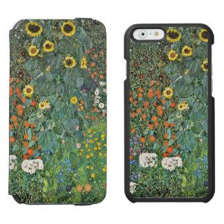 Jardín de la granja de Gustavo Klimt con los Funda Billetera Para iPhone 6 Watson