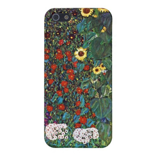 Jardín de la granja de Gustavo Klimt con los giras iPhone 5 Carcasa