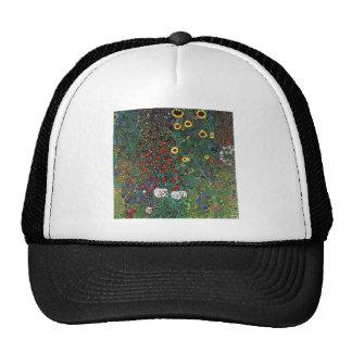 Jardín de la granja de Gustavo Klimt con los giras Gorras
