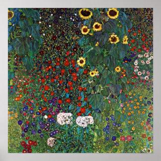 Jardín de la granja de Gustavo Klimt con los giras Impresiones