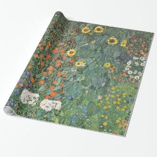 Jardín de la granja de Gustavo Klimt con los Papel De Regalo