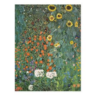 Jardín de la granja de Gustavo Klimt con los Postales