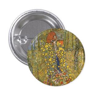 Jardín de la granja de Klimt con el botón del cruc Pins