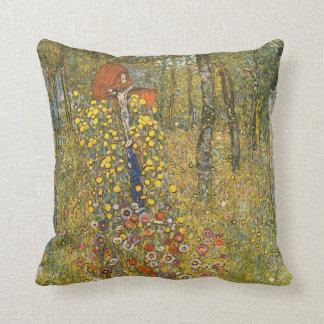 Jardín de la granja de Klimt con la almohada del