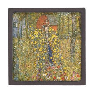 Jardín de la granja de Klimt con la caja de regalo Cajas De Regalo De Calidad