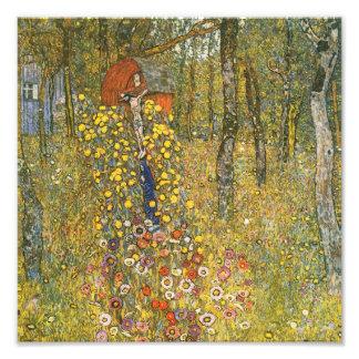 Jardín de la granja de Klimt con la impresión del  Fotografía