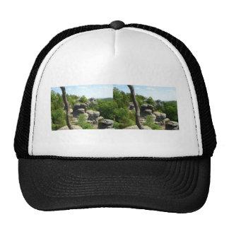 Jardín de la Illinois Dios-Meridional. Stereograph Gorro