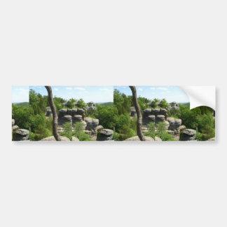 Jardín de la Illinois Dios-Meridional. Stereograph Pegatina Para Auto