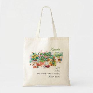 Jardín de la inspiración bolsa tela barata