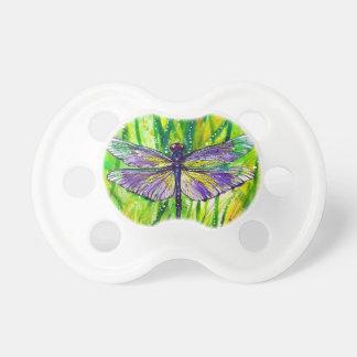Jardín de la libélula chupete de bebe