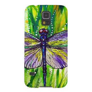 Jardín de la libélula carcasas de galaxy s5