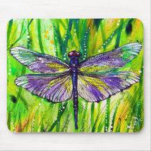 Jardín de la libélula tapete de ratón