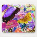 Jardín de la mariposa alfombrilla de raton
