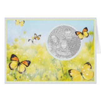 Jardín de la mariposa - plantilla felicitación