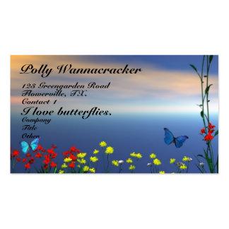 Jardín de la mariposa tarjetas de visita