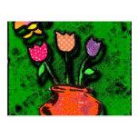 jardín de la mariposa tarjetas postales
