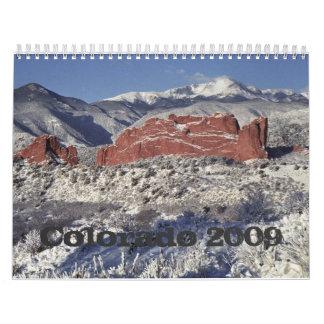 Jardín de la nieve de dioses, Colorado 2009 Calendarios De Pared