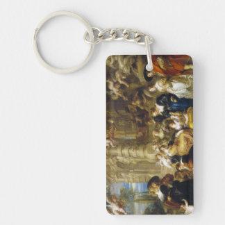 Jardín de la obra maestra de Peter Paul Rubens del Llavero Rectangular Acrílico A Doble Cara