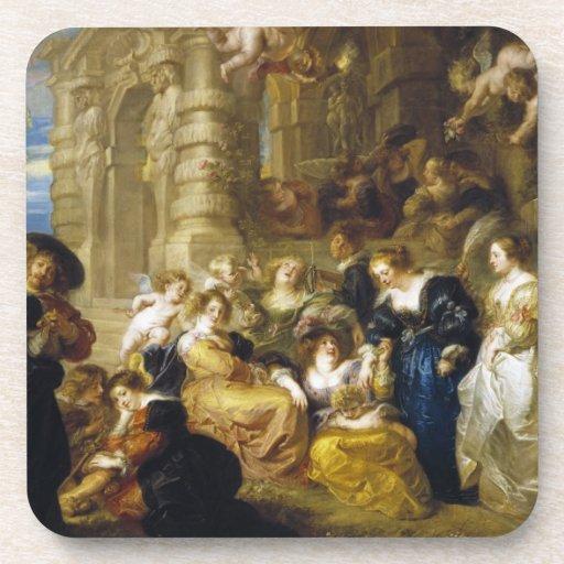 Jardín de la obra maestra de Peter Paul Rubens del Posavasos De Bebidas
