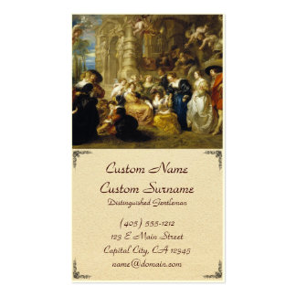 Jardín de la obra maestra de Peter Paul Rubens del Tarjetas De Visita