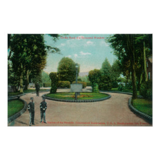 Jardín de la opinión de Presidio Posters
