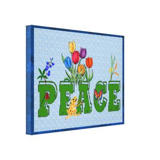 Jardín de la paz lienzo envuelto para galerias