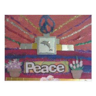 Jardín de la paz tarjeta postal
