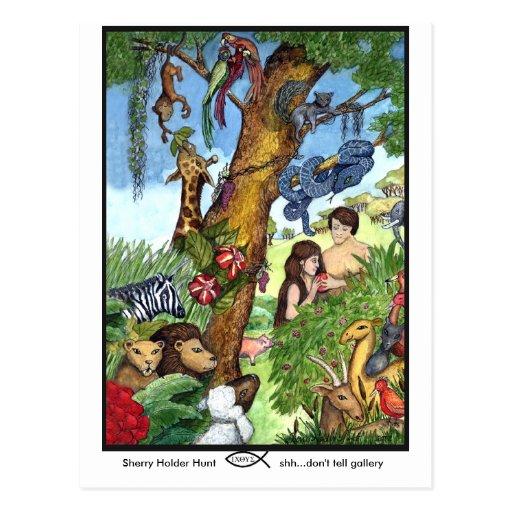Jardín de la postal de Eden