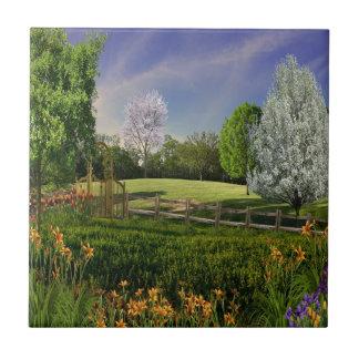Jardín de la primavera azulejos cerámicos